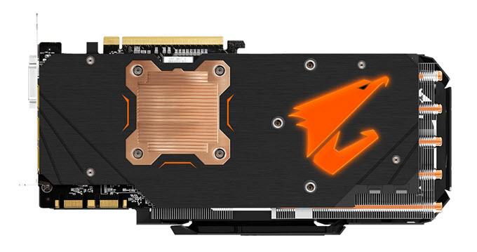 GeForce GTX 1080 AORUS back