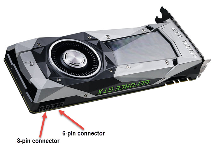 Graphics Card PCI-E 6-Pin & 8-Pin Connectors Explained