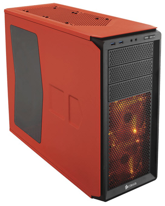 Corsair Graphite Series 230T Compact Mid-Tower Case Orange