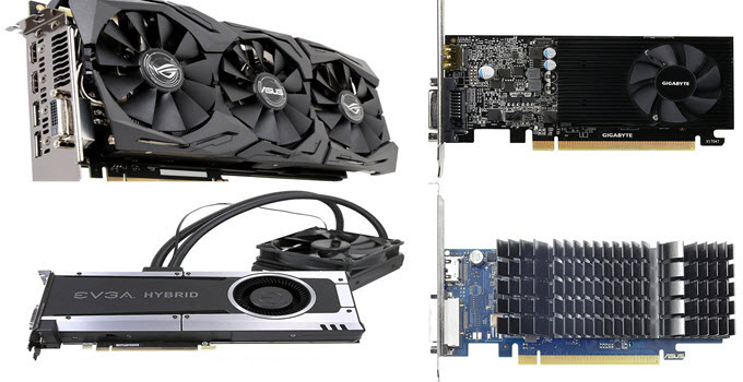 Graphics Card Types based on Form Factor, Budget, Use, Power & Cooling