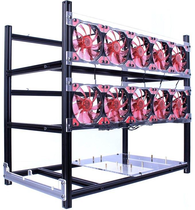 LAWOHO-Miner-Case-12-GPU-Open-Air-Mining-Frame-Case