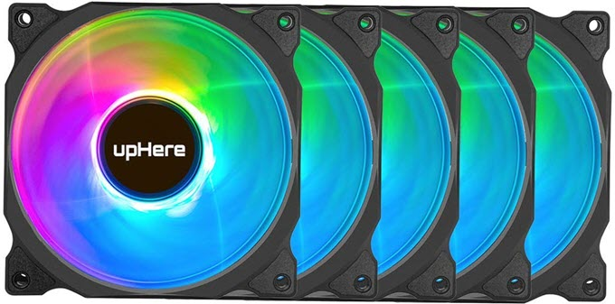 upHere-Wireless-RGB-LED-120mm-Case-Fans