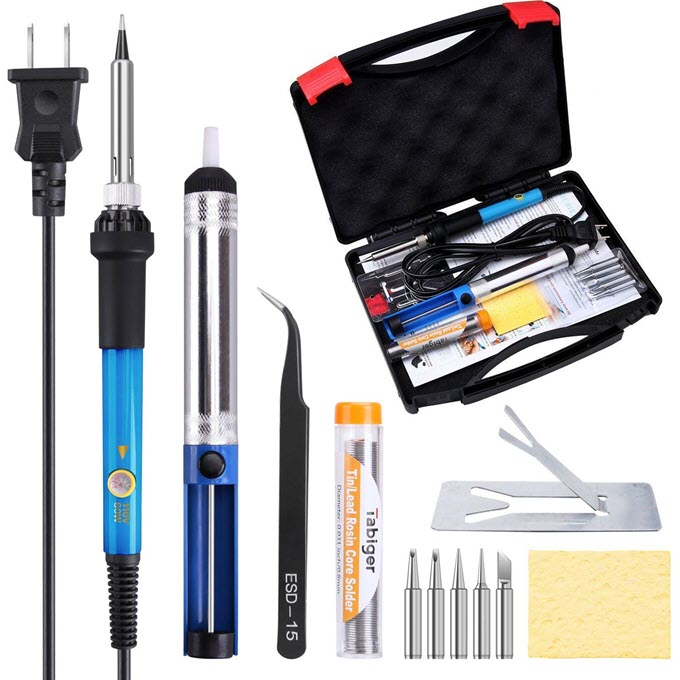 Tabiger-Soldering-Iron-Kit-60W-110V-Adjustable-Temperature