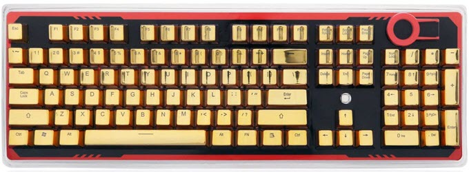 Redragon-A101G-Metallic-Golden-Color-Double-Injection-PBT-Keycaps