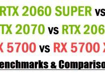 RTX 2060 SUPER vs RX 5700 vs RX 5700 XT vs RTX 2070 vs RTX 2060 Comparison