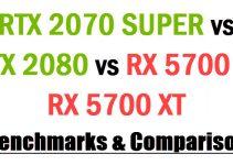 RTX 2070 SUPER vs RX 5700XT vs RTX 2080 vs RTX 2070 Comparison