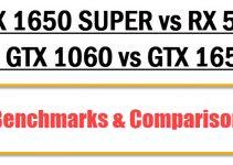 GTX 1650 SUPER vs GTX 1060 vs RX 580 vs GTX 1650 Comparison
