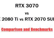 RTX 3070 vs RTX 2080 Ti vs RTX 2070 SUPER Comparison & Benchmarks