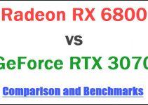 RX 6800 vs RTX 3070 Comparison and Benchmarks