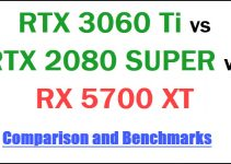 RTX 3060 Ti vs RTX 2080 SUPER vs RX 5700 XT Comparison & Benchmarks