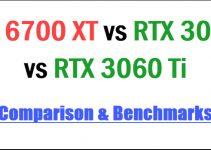 RX 6700 XT vs RTX 3070 vs RTX 3060 Ti Comparison & Benchmarks