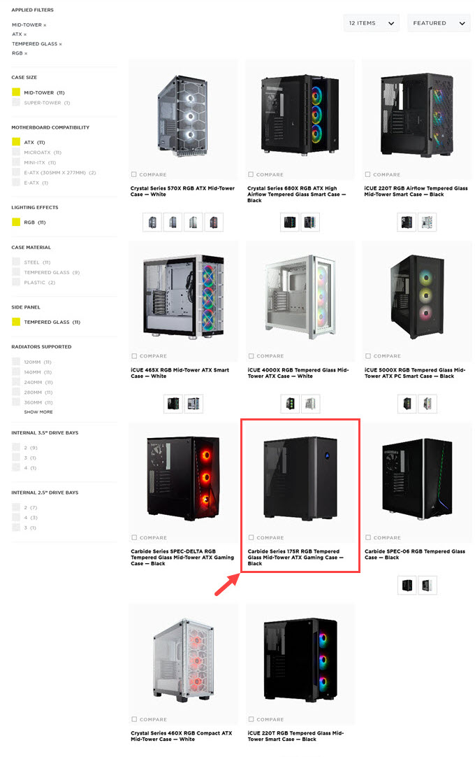 PC-Case-Search-Manufacturers-Website
